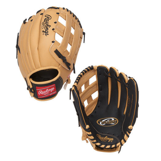 "PL115BC Rawlings Player's Series Youth 11.5"" Glove - Regular Tan/Black THUMBNAIL"