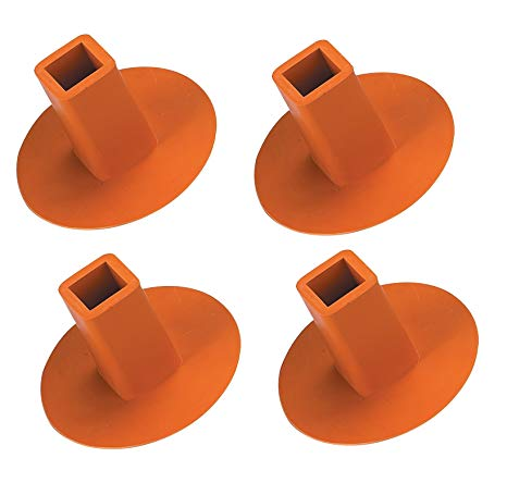 PLUG4O Markwort Receptacle Plugs - Orange 4 Packk MAIN