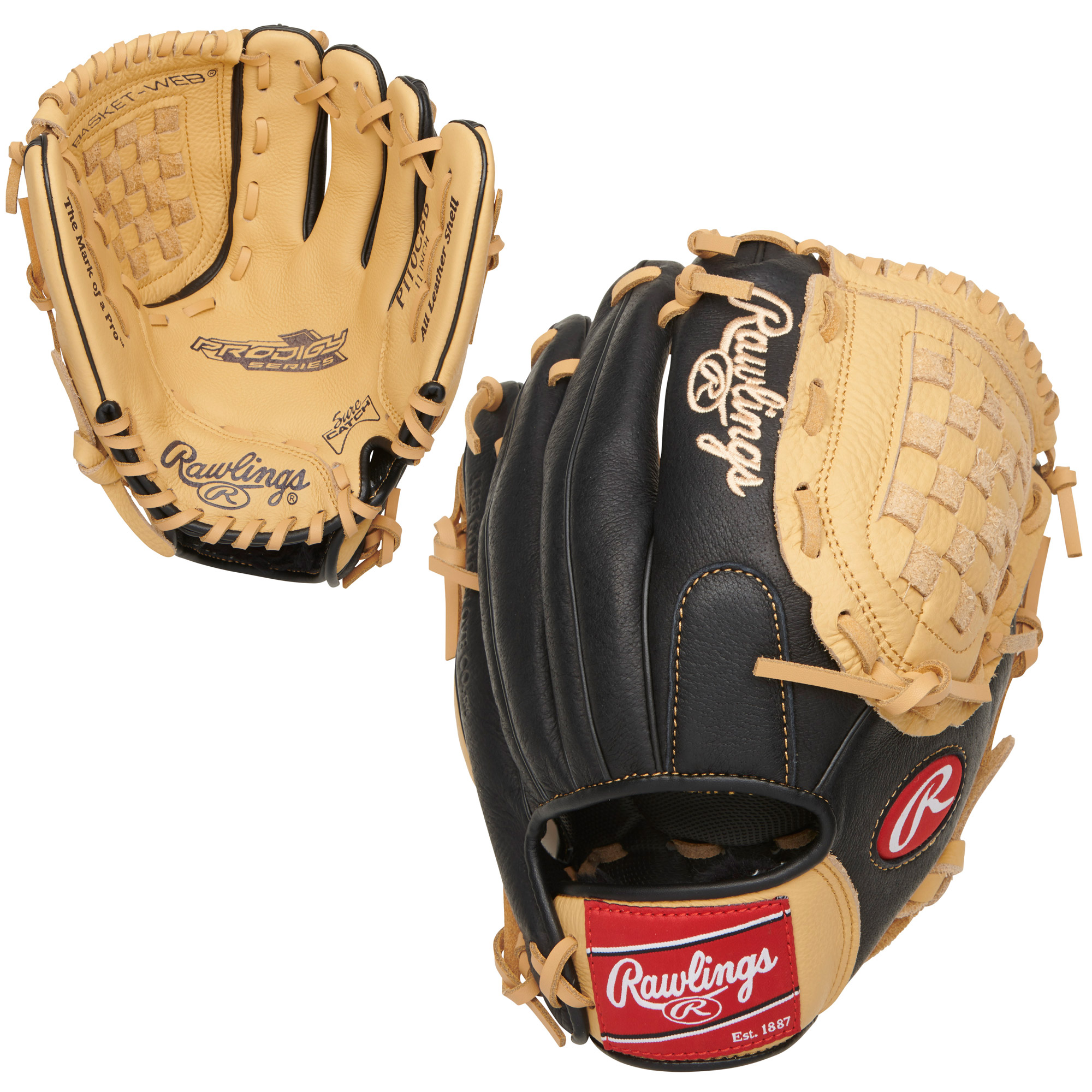"P110CBB Rawlings Prodigy Series Ball Glove Basket Web 11"" - Regular THUMBNAIL"