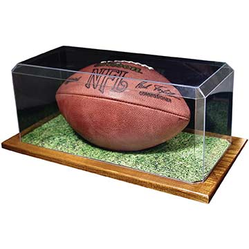 576FWD Football Display Case with Wood Base MAIN