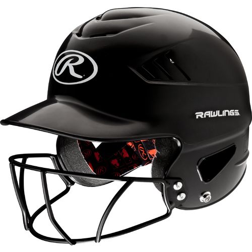 RCFHFGB Rawlings Batter's Helmet w/Faceguard Black MAIN