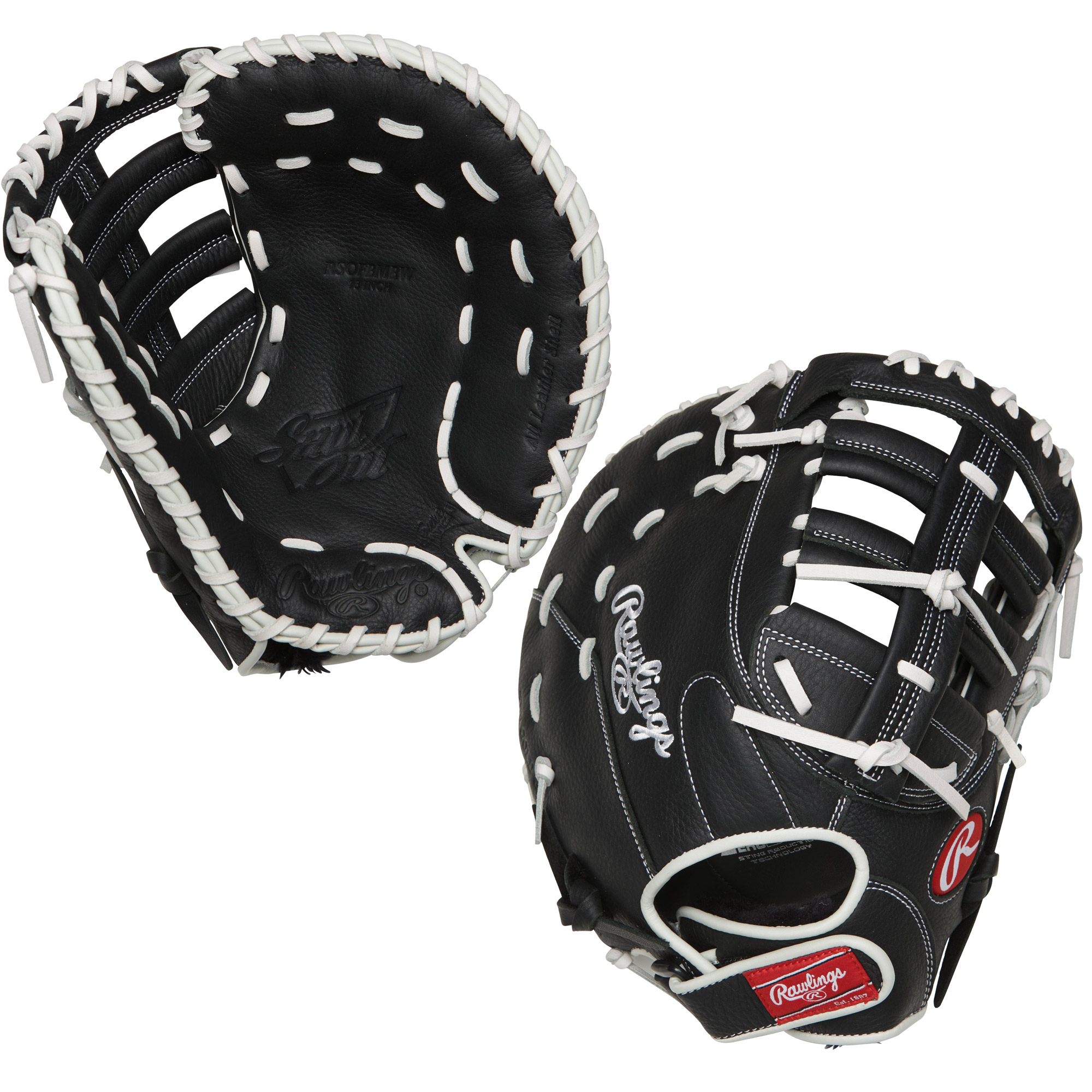 "RSOFBMBW Rawlings Shut Out Fastpitch First Base Mitt 13"" - Regular THUMBNAIL"