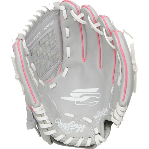 "SCSB100P Rawlings Sure Catch 10"" Youth Fastpitch Softball Glove - Regular MAIN"