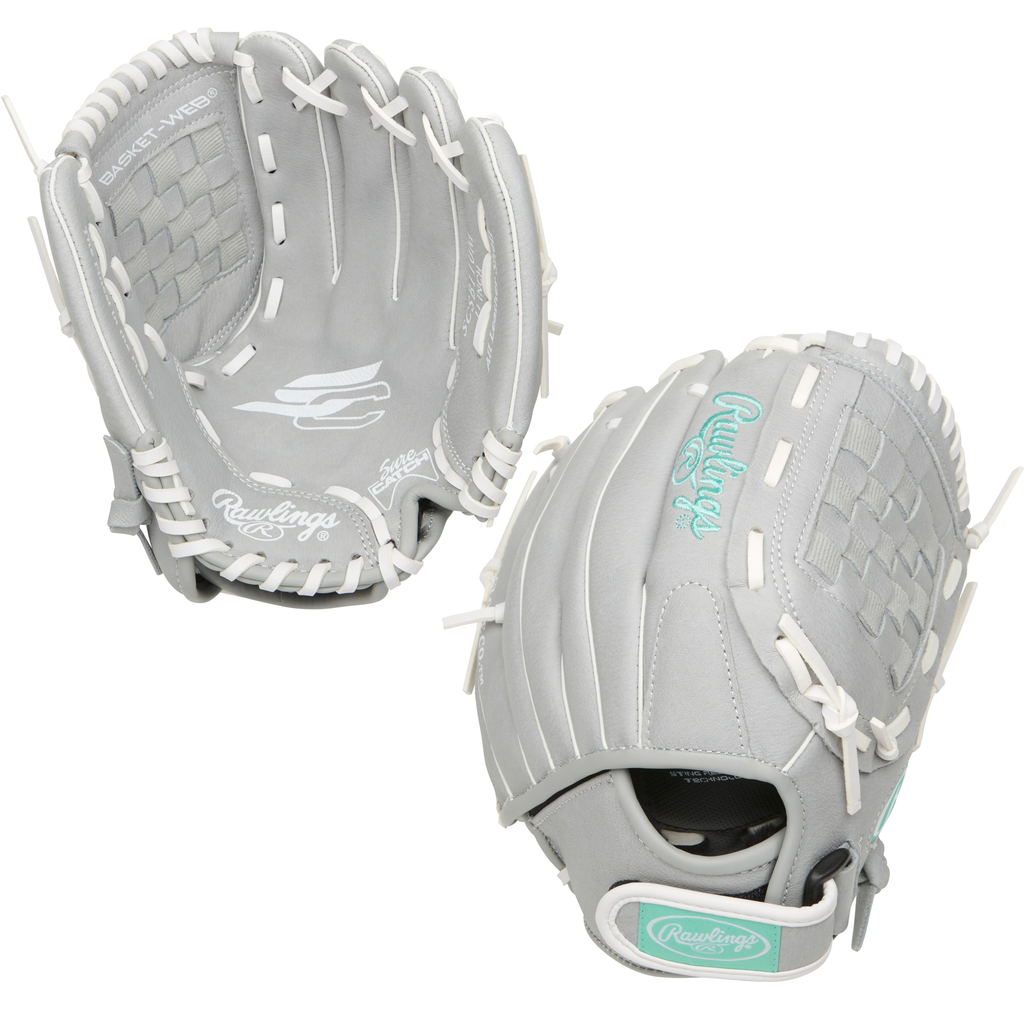 "SCSB110M Rawlings Sure Catch Fastpitch Ball Glove Basket Web 11"" - Regular MAIN"
