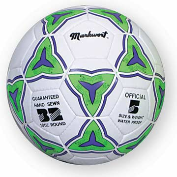 SB5095 Markwort Soccerball - White/Green/ Purple - Size 5 MAIN