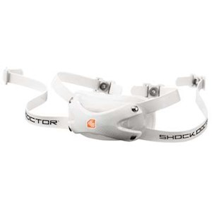 5000210 Shock Doctor Ultra Carbon Chin Strap - Youth  - White THUMBNAIL