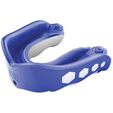 6353A Shock Doctor Gel Max Convertible Adult Flavor Fusion Mouthguard  - Blue Raspberry MAIN