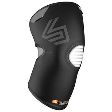 865 Shock Doctor Knee Compression Sleeve Open Patella - Black MAIN
