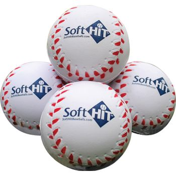SH12RB Soft Hit Baseballs - White THUMBNAIL