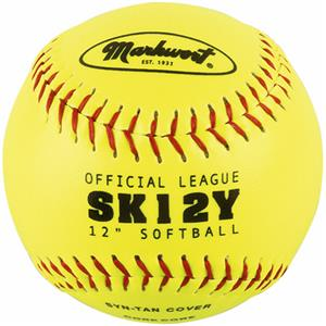 "Markwort 12"" Synthetic Leather Softballs THUMBNAIL"