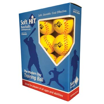 YSH12RB Soft Hit Baseballs - Yellow MAIN