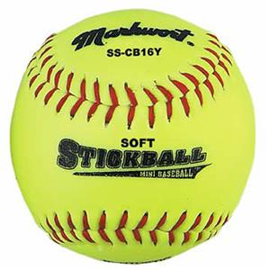 Markwort Soft Safe Corkball Style Mini-Baseball - Yellow THUMBNAIL