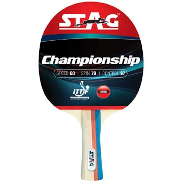 322CHP Stag Championship Table Tennis Racket MAIN