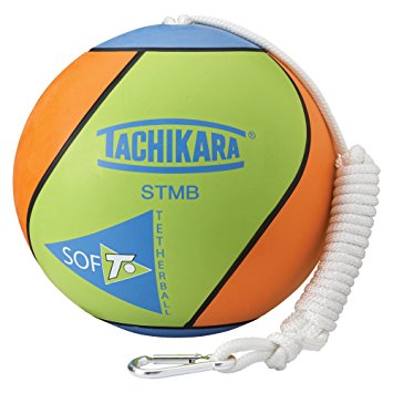 STMB Tachikara SOF-T Tetherball - Lime Green/Blue/Orange MAIN