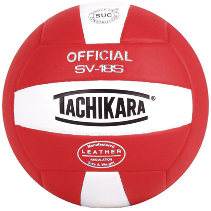 Tachikara SV-18S Composite Volleyball - Scarlet/White THUMBNAIL
