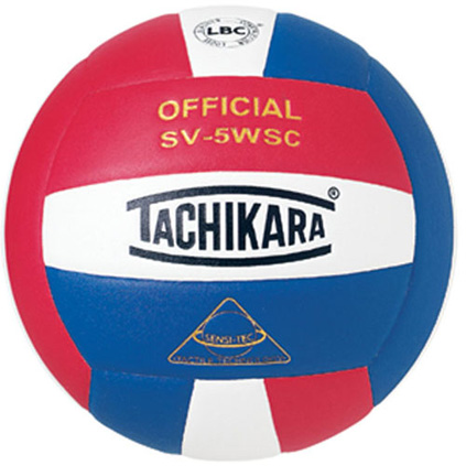SV5SWR Tachikara SV5-WSC Sensi-Tec Volleyball - Scarlet/White/Royal MAIN