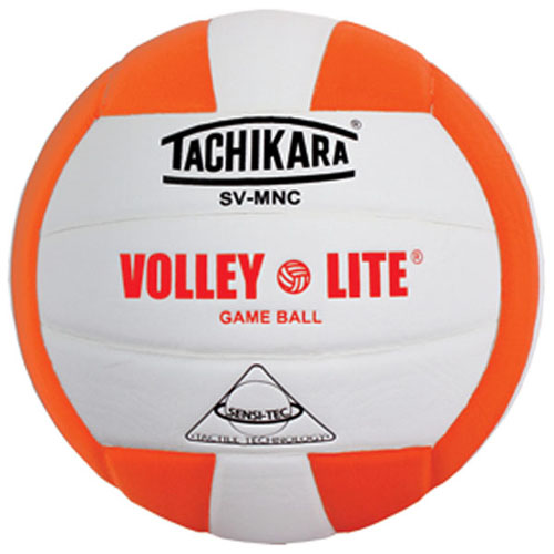SVMNO Tachikara Volley-Lite Volleyball - Orange/White THUMBNAIL