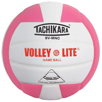 SVMNPK Tachikara Volley-Lite Volleyball - Pink/White MAIN