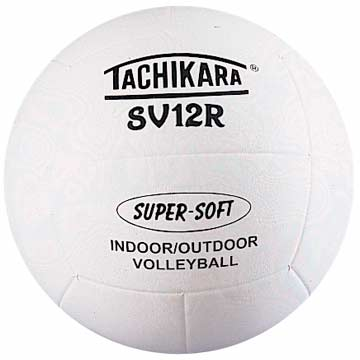 "Tachikara ""Supersoft"" Rubber Volleyball - White THUMBNAIL"