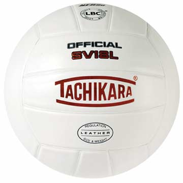 SV18L Tachikara Leather Volleyball NFHS - White THUMBNAIL