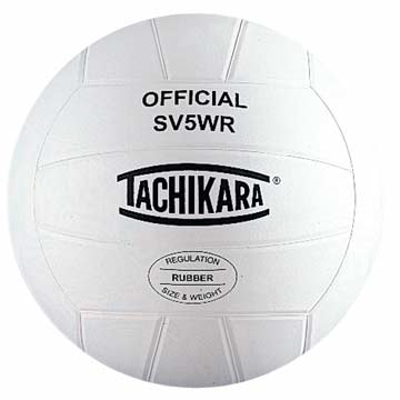 SV5WR Tachikara Rubber Volleyball - White MAIN