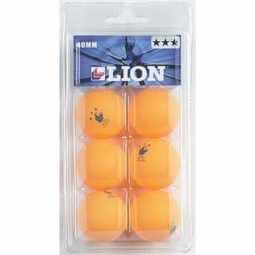 6074W Lion Table Tennis 3 Star Balls - White MAIN