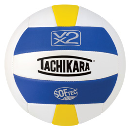 Tachikara Softec Foam-Backed Panel Volleyball - Royal/White/Yellow MAIN