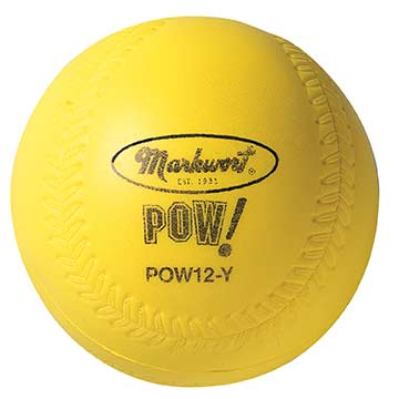 "POW12HV Pow! Ball 12"" Sofball - Hi-Vis Optic Yellow THUMBNAIL"