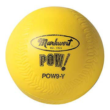 "POW9Y Pow! Ball 9"" Baseball - Yellow MAIN"