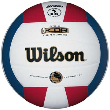 H7700XR Wilson I-COR High Performance Volleyball NFHS - Red/White/Blue MAIN