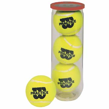 Wilson Practice Tennis Balls - Can of 3 THUMBNAIL