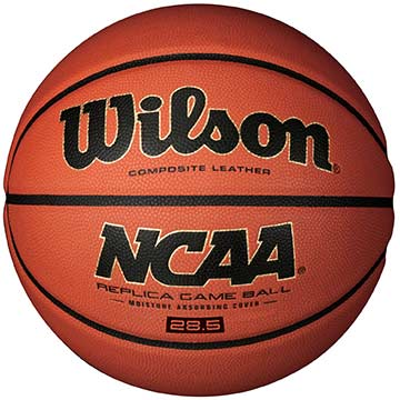 "WTB0731 Wilson NCAA Basketball Replica Game Ball - 28.5"" MAIN"