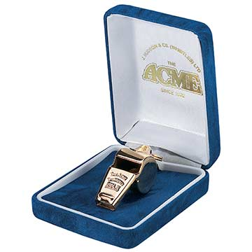 Acme Thunderer Whistle 60 1/2 - Gold Plated THUMBNAIL