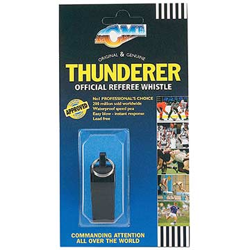 660 Acme Thunderer Plastic Whistle - Black MAIN