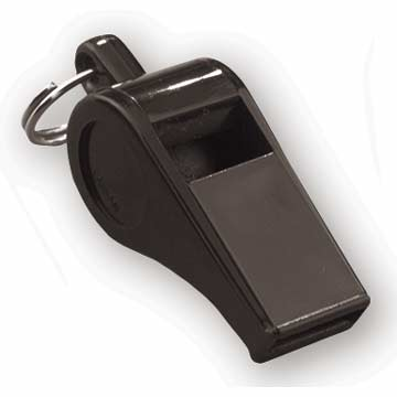 "PW3B Markwort Plastic Whistle - 2"" - Black MAIN"