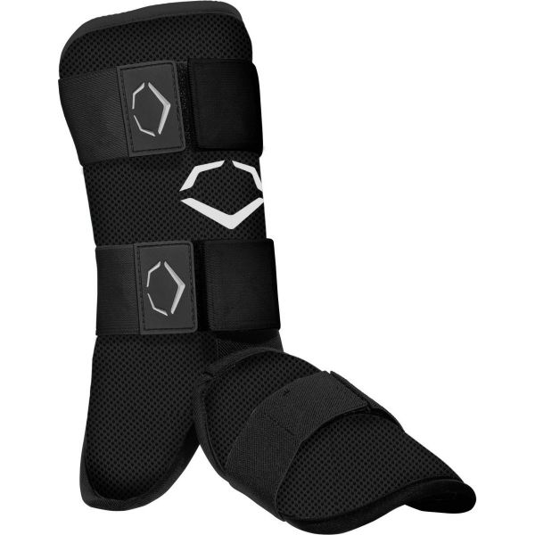 WTV1112B Evoshield SRZ-1 Batter's Leg Guard Adult Black THUMBNAIL