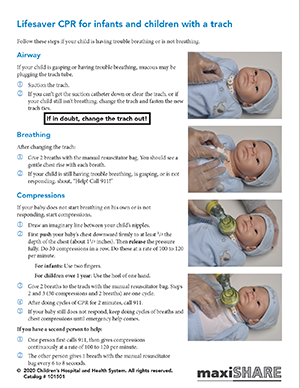 Lifesaver: CPR Guide Sheet for Infants and Children with a ...