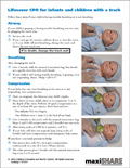 Lifesaver: CPR Guide Sheet for Infants and Children with a Trach (English) (101501)