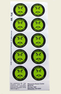 """Mr. Yuk"" stickers (25 sticker sheets/pack)"