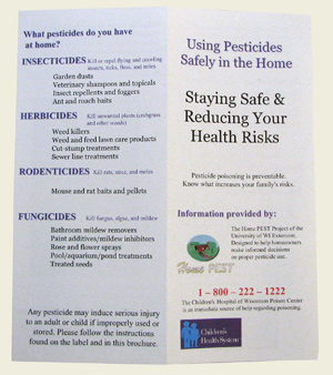 Using Pesticides Safely in the Home (25/pk) (English - preprinted brochure)