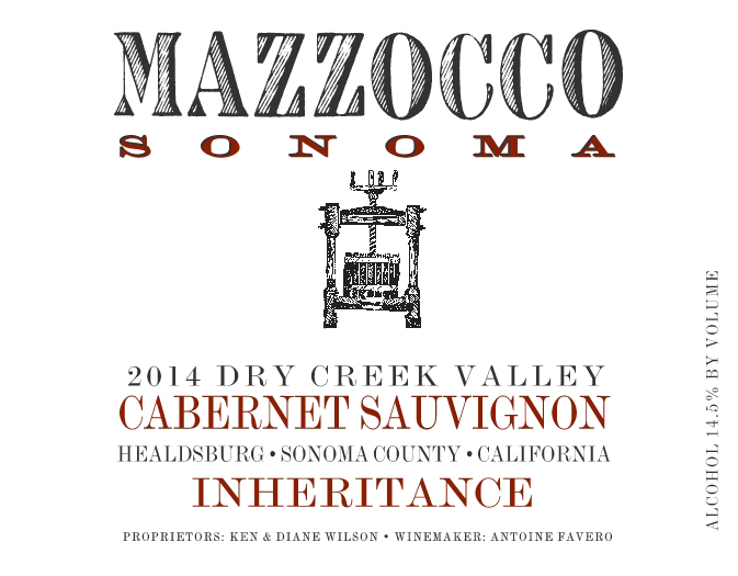 2014 Cabernet Sauvignon Inheritance, Dry Creek Valley THUMBNAIL