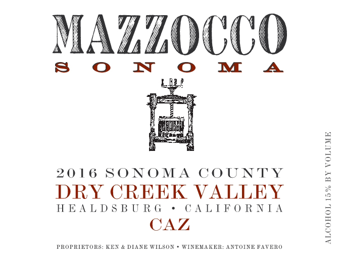 2016 Red Blend Caz, Dry Creek Valley
