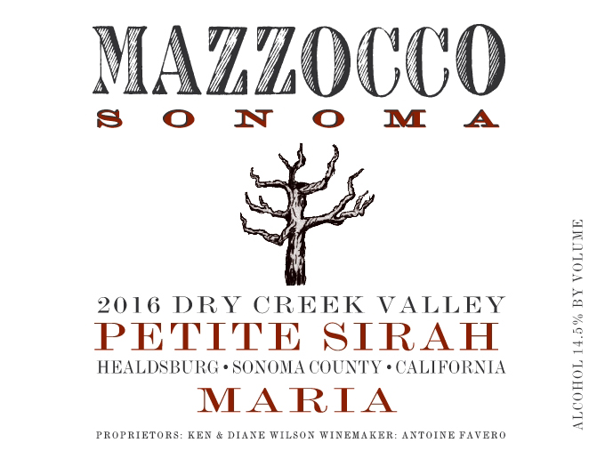 2016 Petite Sirah Maria, Dry Creek Valley