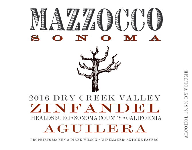 2016 Zinfandel Aguilera, Dry Creek Valley