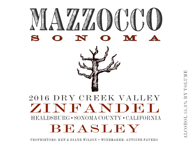 2016 Zinfandel Beasley, Dry Creek Valley