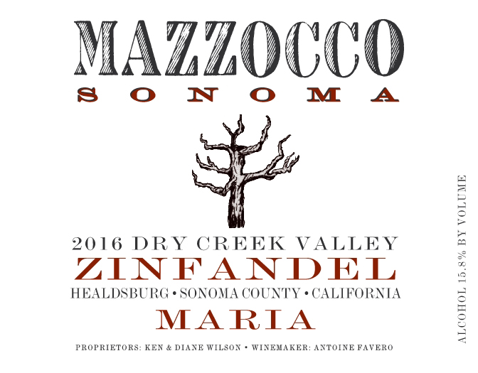 2016 Zinfandel Maria, Dry Creek Valley