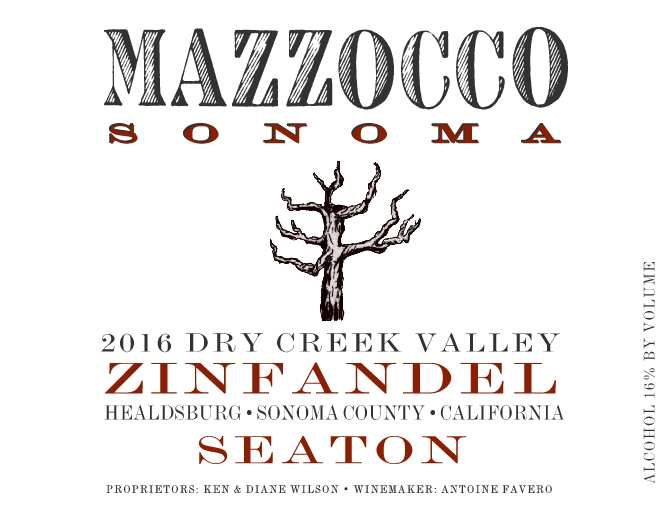2016 Zinfandel Seaton, Dry Creek Valley