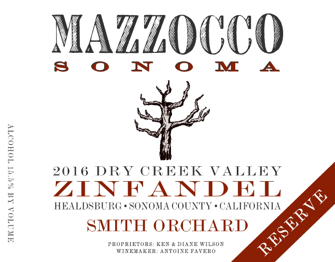 2016 Zinfandel Reserve Smith Orchard, Dry Creek Valley