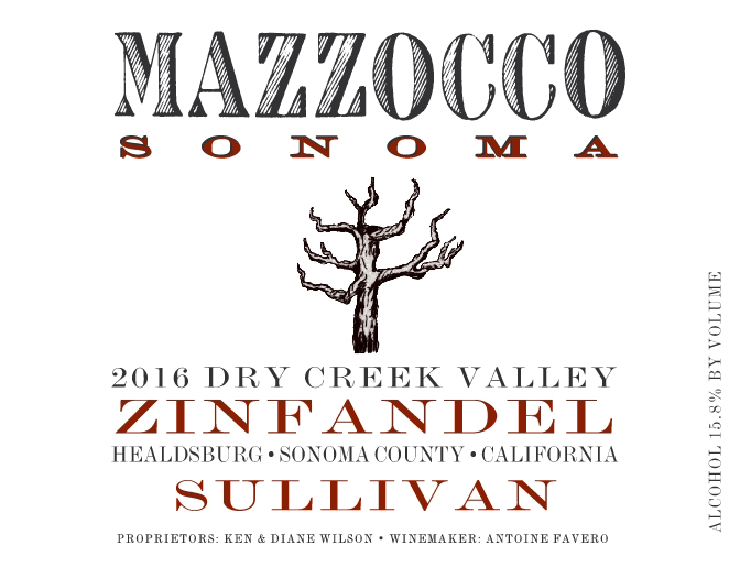 2016 Zinfandel Sullivan, Dry Creek Valley