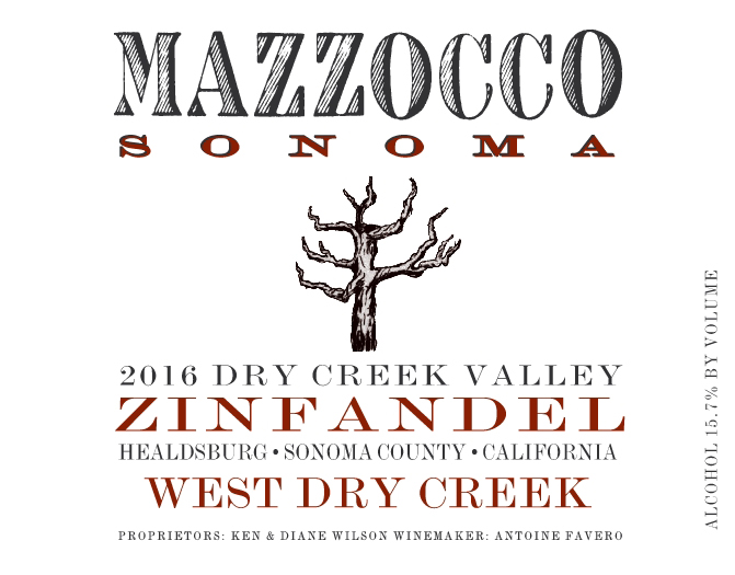 2016 Zinfandel West Dry Creek, Dry Creek Valley